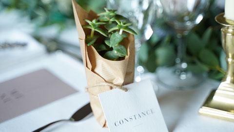Les Coins Heureux wedding planner Paris et France cadeaux invités mariage végétal