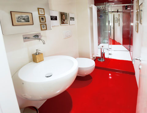 The Red Bathroom