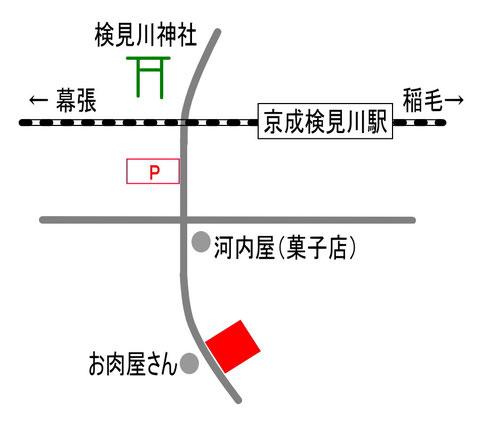 検見川教室 地図