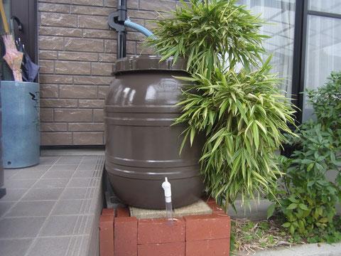 雨水タンク 熊本 ブラウンカラー