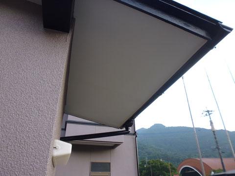 熊本県I様家の外壁塗装及び屋根塗装完成。外壁と天井の塗り替え完成です。