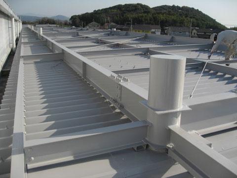 熊本倉庫屋根塗装完了