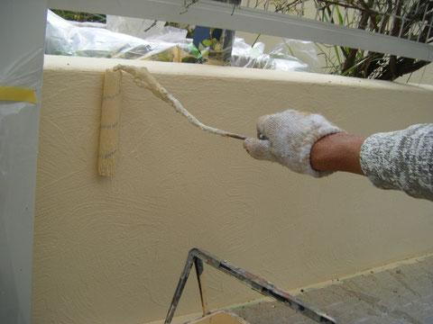 熊本H邸塀塗装 汚れにくいビュークリーンDX使用