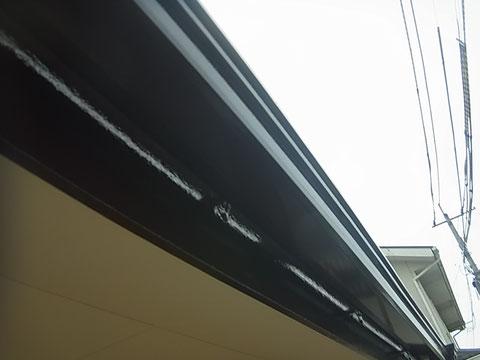 おしゃれ色で破風板・樋を塗り替え。ダーク系ブラウン 熊本〇様宅