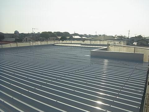 折板屋根塗替え 完了