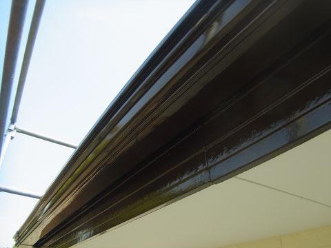 熊本県〇様邸外壁塗装 トイ・幕板の仕上がり状況