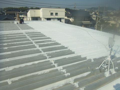 熊本市東区屋根塗装前の錆止め