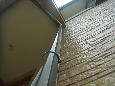 外壁柄残し塗装 クリアー塗装後 熊本Y様邸