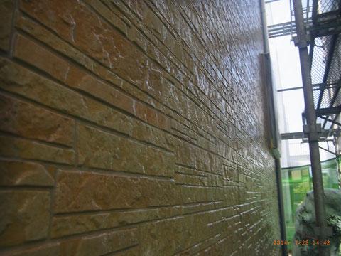熊本Y様家のクリアー外壁塗装後です。