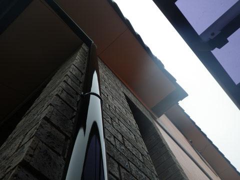 樋塗装完了 熊本県益城町の住宅
