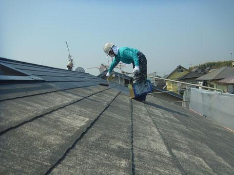熊本市東区屋根下塗り