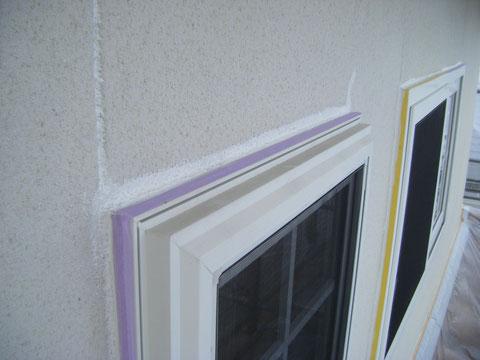 外壁塗装前のコーキング処理状況 熊本の住宅