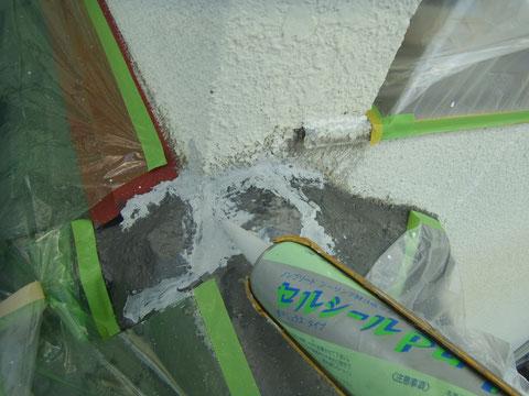 熊本T様邸外壁コーキング処理 防水処理