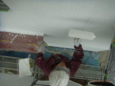 熊本T様邸外壁防水塗装 2回目。