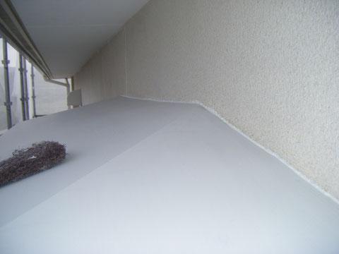 熊本県H様邸 外壁・庇屋根の防水コーキング処理状況