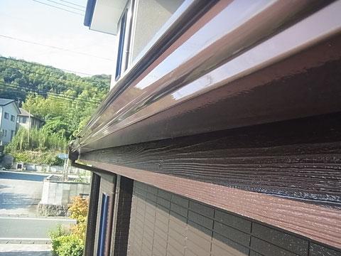 高耐久塗料で木破風板・樋を仕上げました。 熊本I様邸