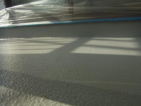 ベランダ床の防水塗装完了。熊本の現場。
