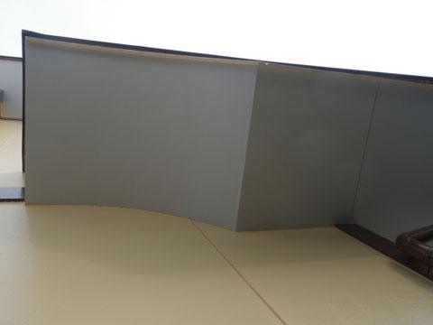 アーチ型軒天塗装完成!防カビ・ヤケ止め塗料使用。