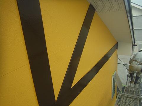外壁と幕板帯板塗り替え完成