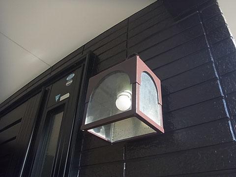 玄関照明塗装完成。 熊本I様邸