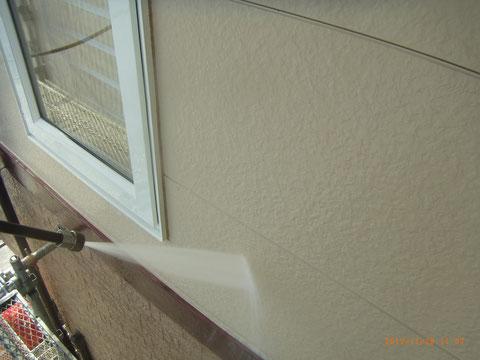 外壁高圧洗浄 熊本の岩津塗装施工