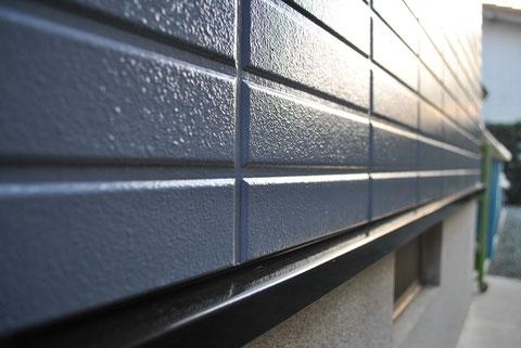 屋根塗装・外壁塗装後 AFTER 外壁の仕上がりを高画質カメラにて接写で撮影。