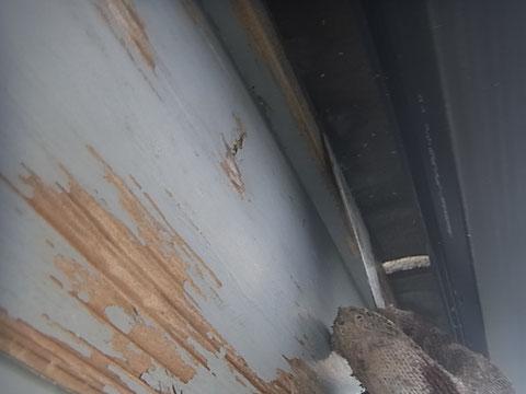 幕板ケレン中。 熊本〇様宅塗装状況