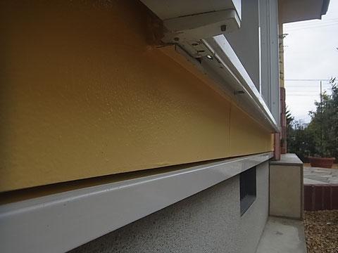 鉄板水切り塗装完成。 関西ペイント高耐久シリコン使用。