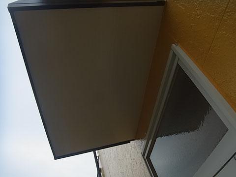 勝手口庇屋根の塗り替え 熊本〇様宅