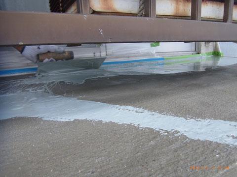 熊本県T様邸ベランダ防水塗装状況