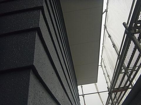 外壁と軒天の塗装完了。