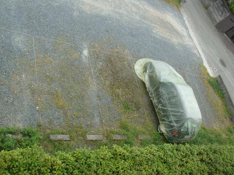 塗料飛散から車を守る 熊本の岩津塗装にて塗り替え。