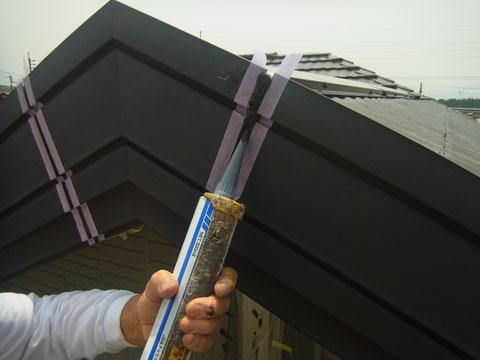 防水コーキング処理状況 熊本の住宅