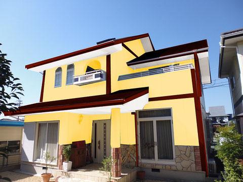 熊本市N様家の外壁塗装カラーシミュレーション。