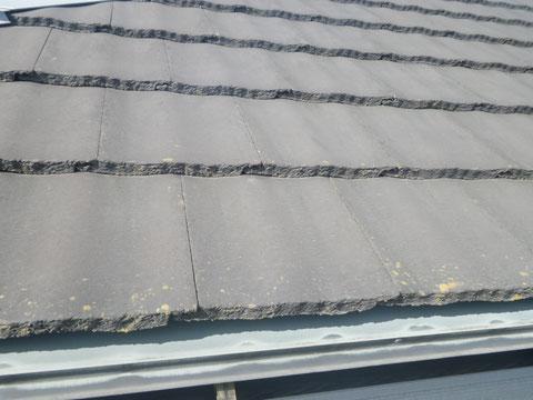 熊本県O様邸屋根・外壁塗装状況 屋根塗装BEFORE(モニエル瓦)