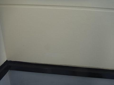 熊本I様邸 屋根塗装 外壁塗装状況。 ベランダ外壁塗装完成。