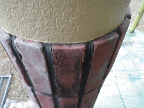 柱塗装が完了し、手直し補修工事を行いました。熊本市N様家