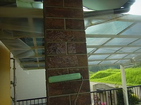 外壁UVプロテクトクリアー ツヤあり。