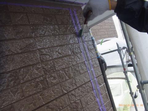 外壁クリアー塗装完成後 コーキング処理