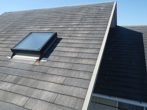 屋根塗装前BEFORE。