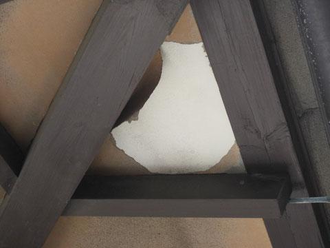 軒天剥がれ塗装前 熊本県T様邸