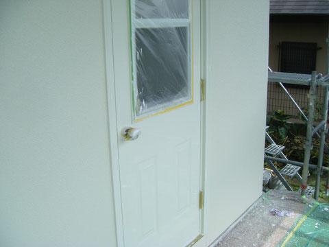 熊本H様邸 洋風おしゃれドア塗装 ホワイト 白