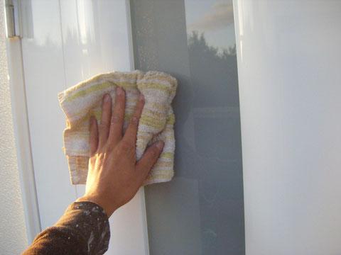 熊本H様邸 塗装完了後の窓掃除