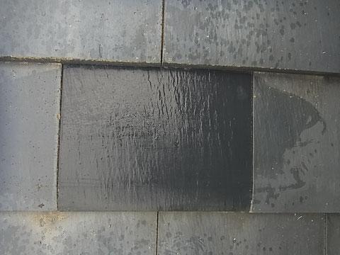 瓦屋根のひび割れ対策 屋根塗装前 熊本〇様宅
