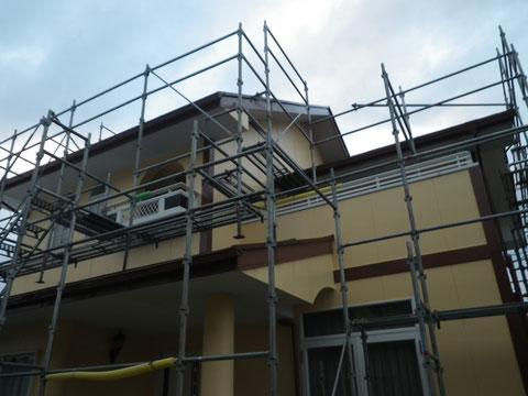 熊本市N様家。おおよその工事が終わり、あとは手直し補修工事を行います。