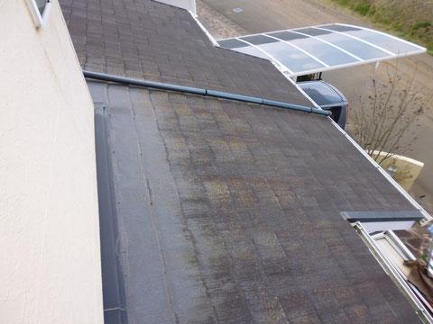コロニアル屋根の塗り替え前。熊本〇様宅