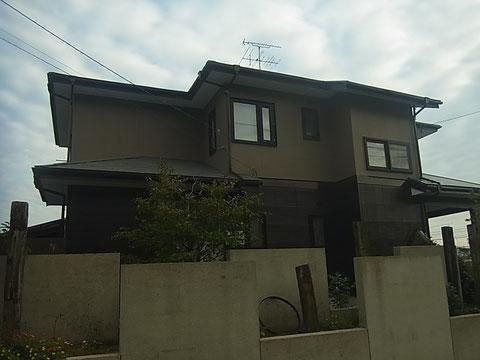 熊本市I様家の外壁塗装完成。ブラウンベースに塗装