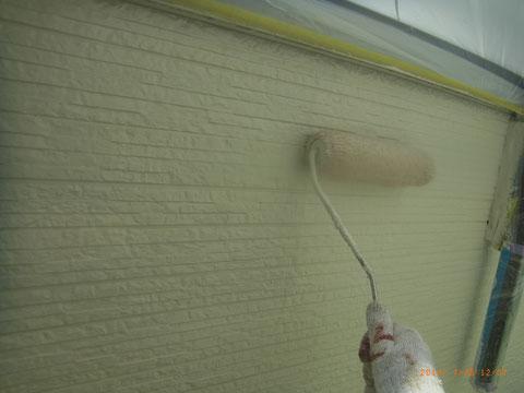 上塗りシリコン水性2液形使用 熊本Y様邸