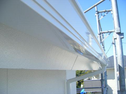 熊本H様邸外壁塗装状況。 樋の仕上がり様子
