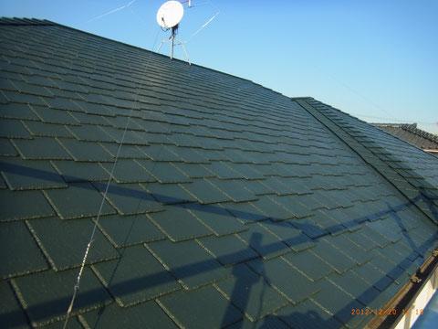 熊本の屋根おしゃれカラー グリーン